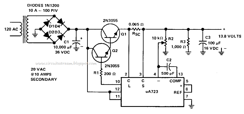 wiring diagram for a power pack pp 20 Collection-Simple 8 Amp Regulated Power supply Circuit Diagram 5-i