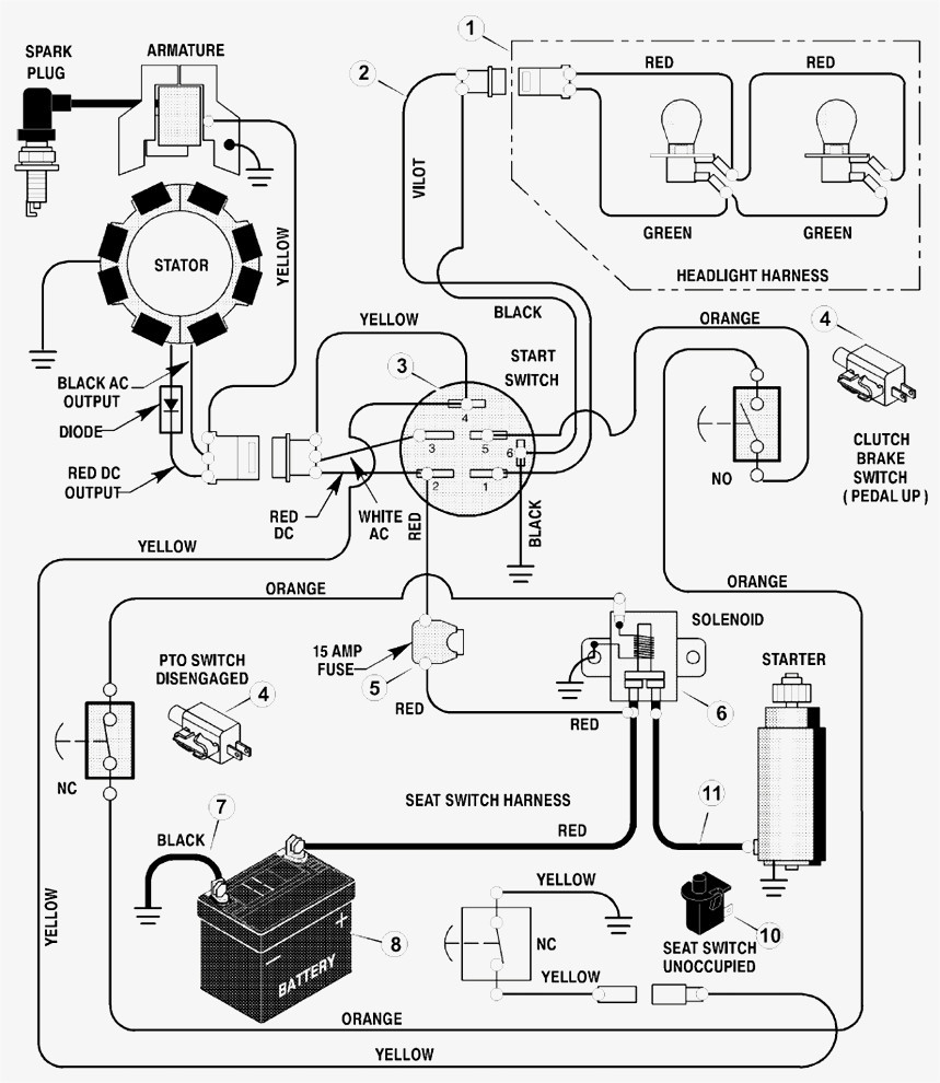wiring diagram for craftsman riding lawn mower Download-New Wiring Diagrams For Riding Lawn Mowers Craftsman Mower Showy Ignition Switch Diagram 11-c