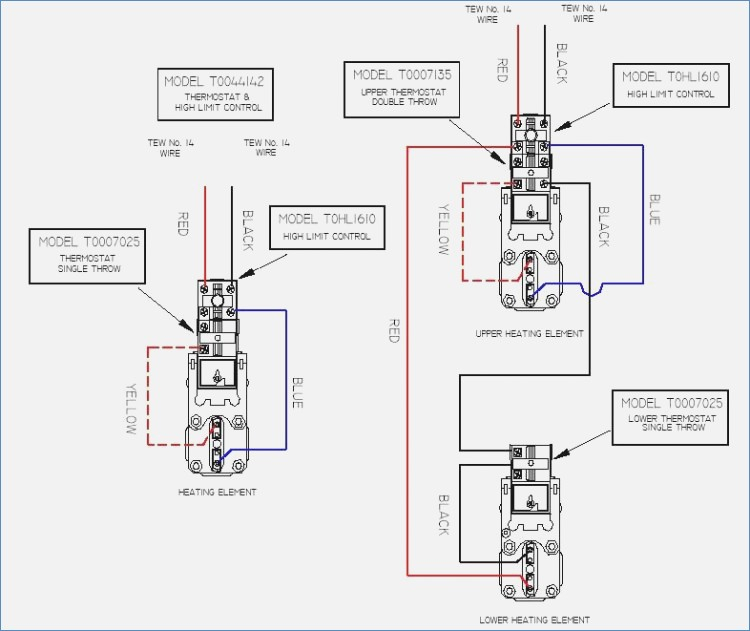 Hot Water Thermostat Wiring Diagrams - Wiring Diagram & Electricity ...