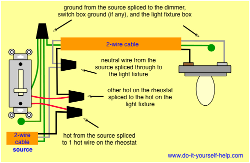 wiring diagram for light switch Collection-Light Switch Dimmer Diagram wiring diagram for a rheostat dimmer 18-t