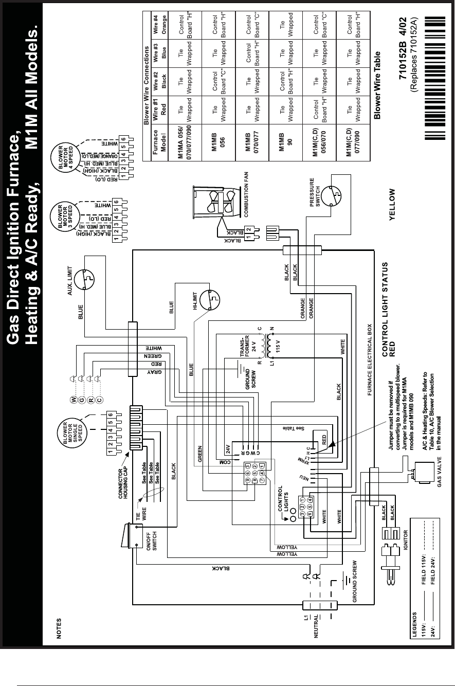 Hot Air Furnace Wiring Diagram Switch Intertherm Gas Just Data Coleman