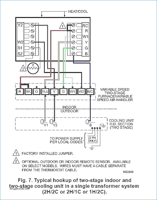 wiring diagram for outdoor thermostat Download-Wiring Diagram for Air Handler Wiring Page Goodman Heat Pump Air 2-c
