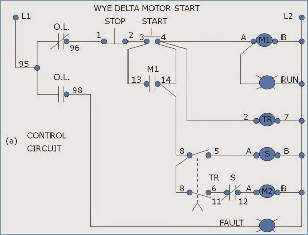 Wye Wiring Diagram Starter - ( Simple Electronic Circuits ) •