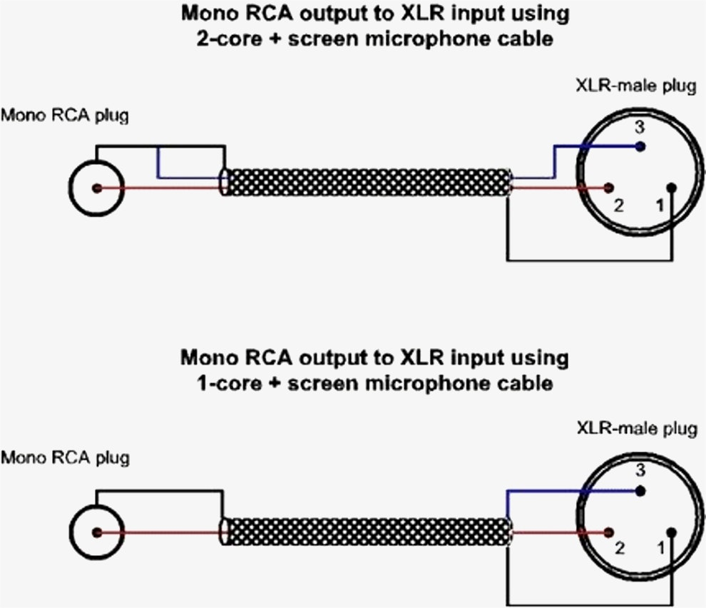 xlr to mono jack wiring diagram Collection-Rca To Xlr Wiring Diagram Diagrams Schematics For Connectors 1-p
