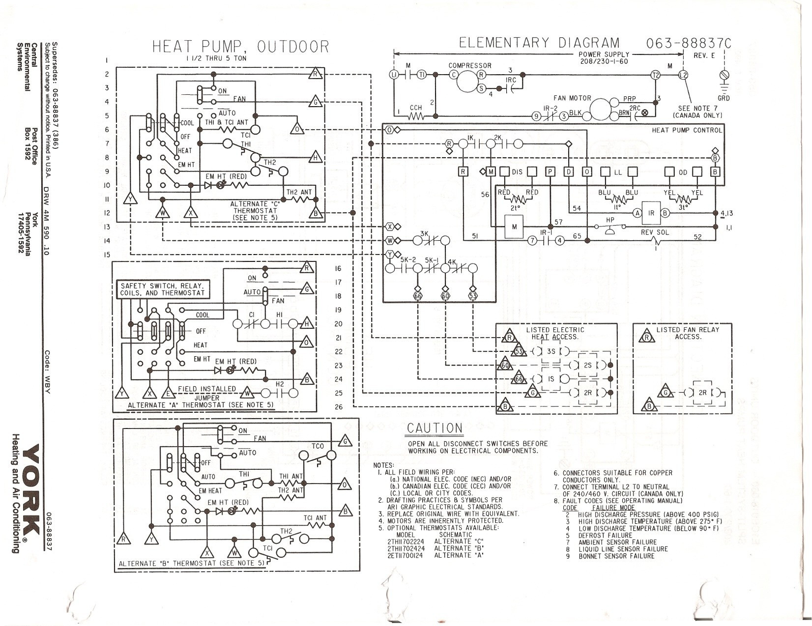 General Electric Air Compressor Wiring Diagram Electrical Conditioner Heat Strip Radio Capacitor
