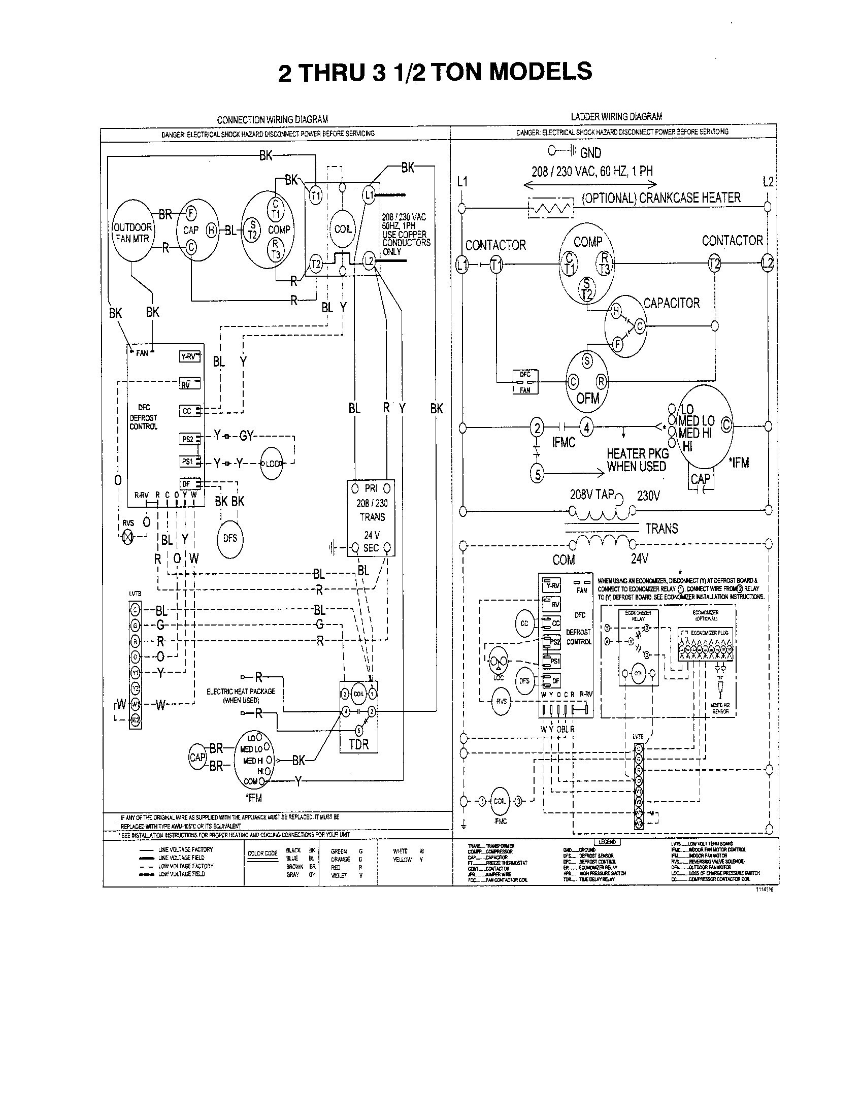 York Ac Wiring Diagram Schemes Capacitor Wire Images Gallery